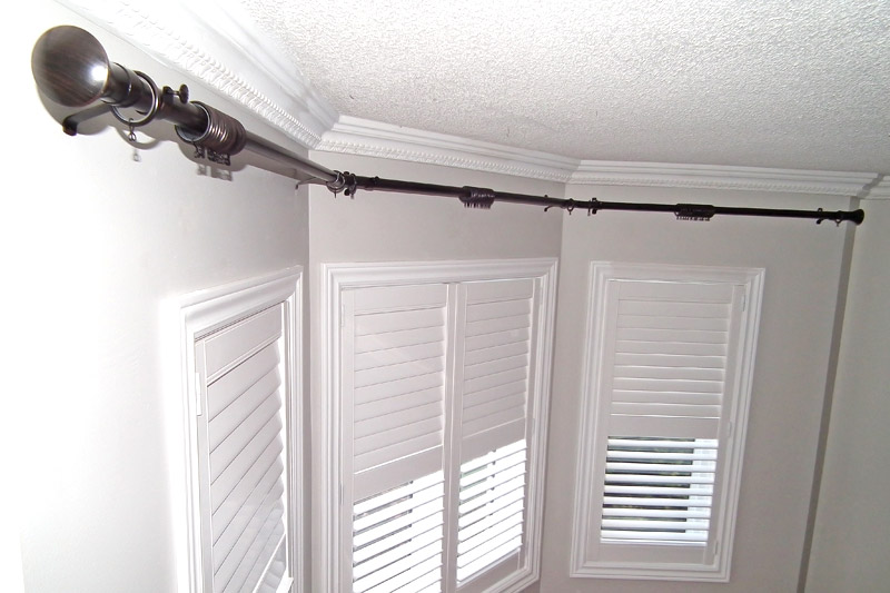 Curtains Ideas bay window curtain rod set : Drapery Installation Toronto, Mississauga, Brampton, Etobicoke, GTA